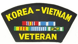 Korea Vietnam Veteran Patches